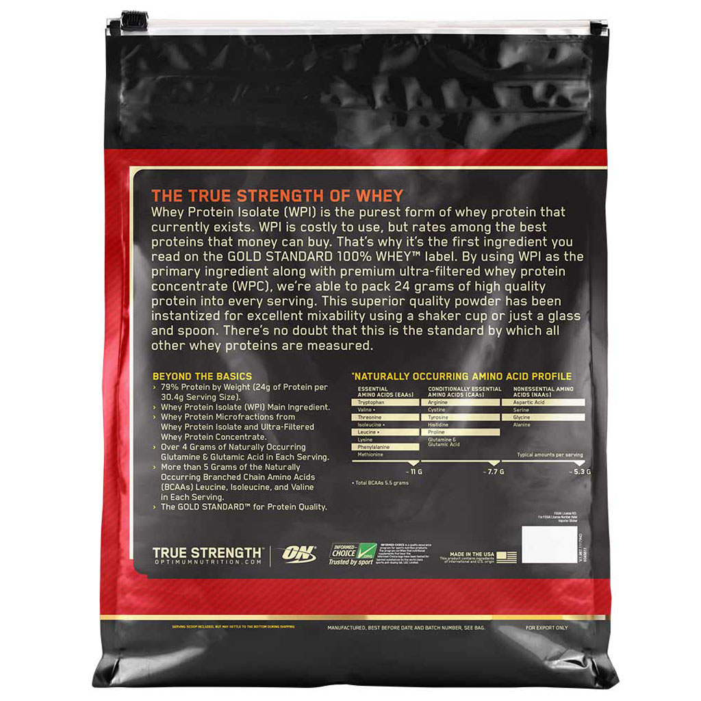 1c576345a47 ON (Optimum Nutrition) Gold Standard 100% Whey Protein 10Lbs - Team Forever